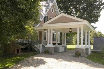 7 best porte cochere portico not a carport images on for House plans with drive through carport