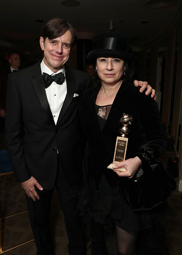 Daniel Palladino and Amy Sherman-Palladino at an event for The 75th Golden Globe Awards (2018)