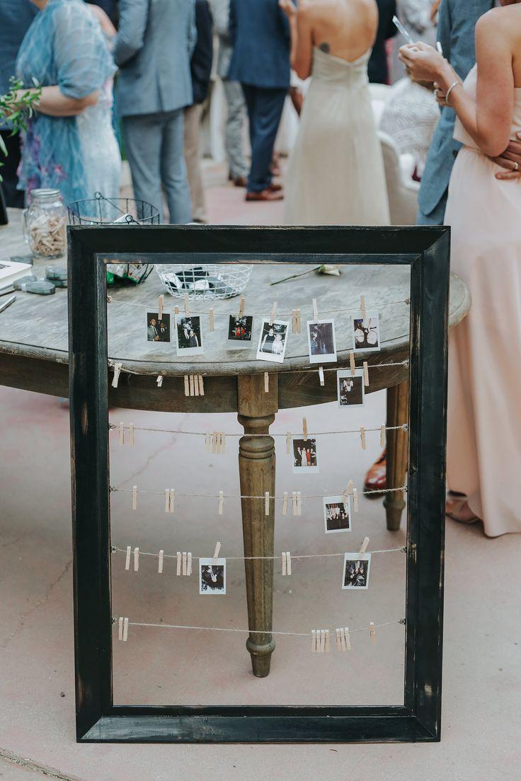 Fun Polaroid Wedding Guest Book Idea