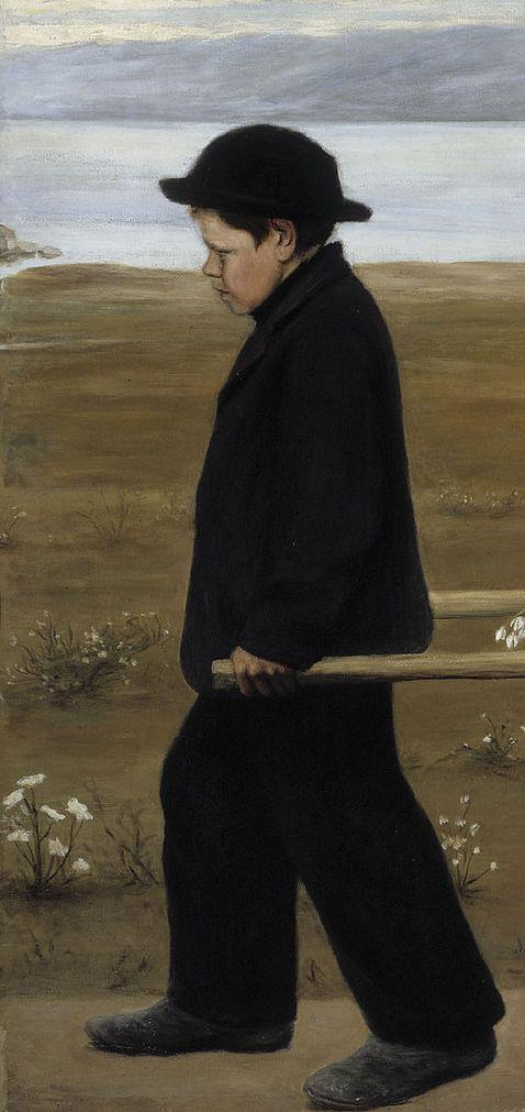 detail:  The Wounded Angel, 1903, Ateneum, Helsinki Hugo Simberg
