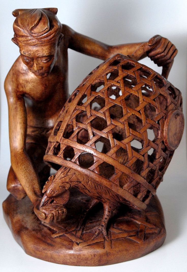 The wood carvers are amazing wooden carved art bali