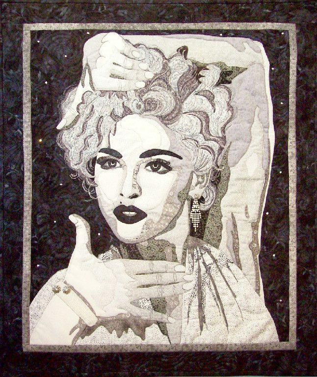 Vogue madonna portrait quilt in a private collection made by me