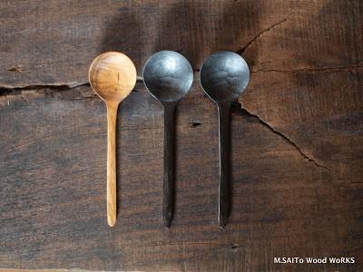0169 スープスプーン黒 | M.SAITo Wood WoRKS
