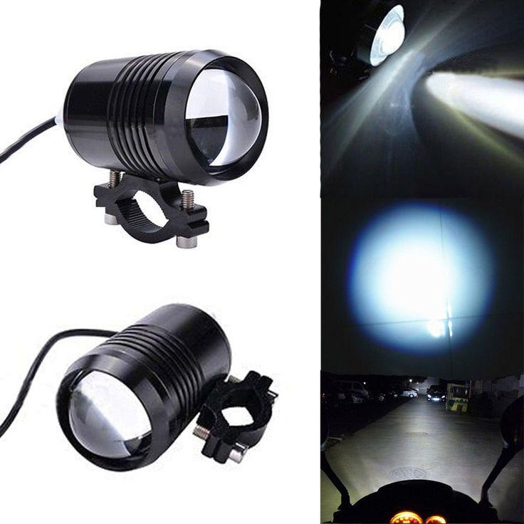 2 pcs Waterproof 12~80V U1 Laser Gun Aluminum Headlight Electric Motor Light Spot Light for Bicycle/ATV/Motorcycle #Affiliate