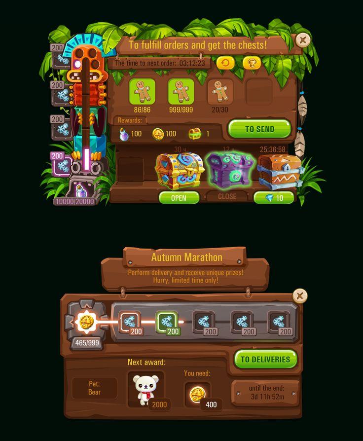 Island Experiment GUI work on Behance