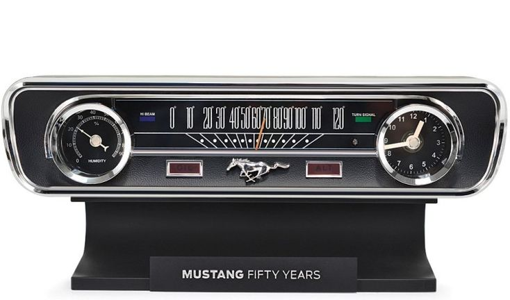 Mustang 50th Anniversary Desk Clock And Weather Station