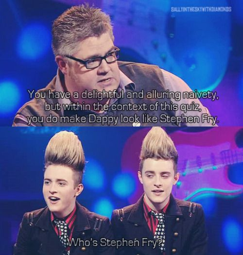 Jedward being Jedward. | The 23 Best Moments From Never Mind The Buzzcocks