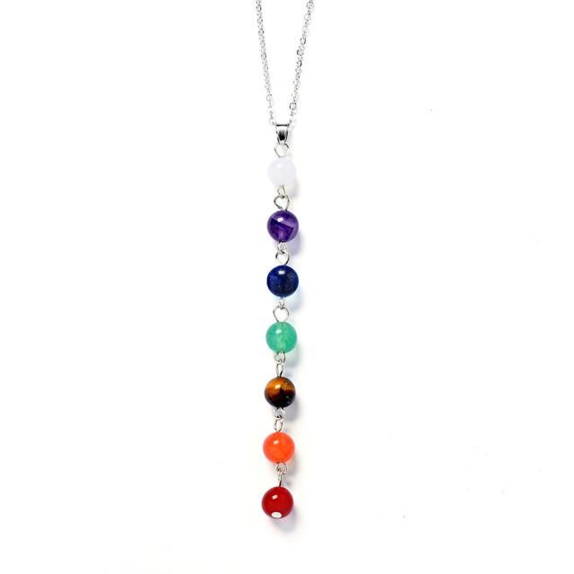 7-Bead Chakra Balancing Mala Necklace Natural Stones                      – meditationzone