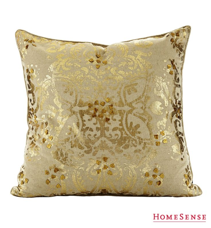 A gold cushion can be used as a fun accent piece that will add a pop of shine and flair to any chair or sofa. #living #room #accent #decor #home #style #ideas / Un coussin décoratif doré ajoutera une touche chic et élégante à n'importe quel fauteuil ou canapé.  #salon #decoratif #deco #maison #style #idees Enter Contest: http://www.HomeSense.ca/HomeSenseStyle Participer: http://www.HomeSense.ca/HomeSenseStyleFr  #HomeSenseStyle