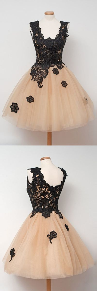 Charming Prom Dress,Tulle Homecoming Dress,Lace Appliques Homecoming Dresses,Short Prom Dress