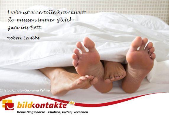 Liebe ist eine tolle Krankheit: da müssen immer gleich zwei ins Bett.
