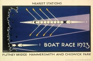 The Boat Race 1923 : Nearest Stations - Putney Bridge . Hammersmith and Chiswick Park.