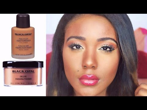 HOW TO: DRUGSTORE Contour,Highlight,+ Foundation for Black Women Makeup Tutorial 2015 ( DARK SKIN ) - YouTube