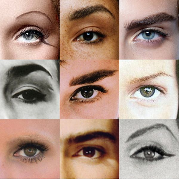 The Most Famous Eyebrows of All Time in One Grid - Vogue
