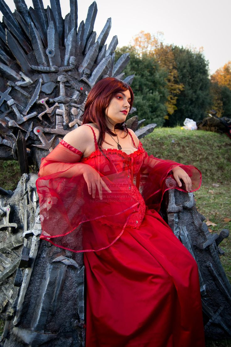 Melisandre on the Iron Throne by CalamityJade.deviantart.com on @deviantART