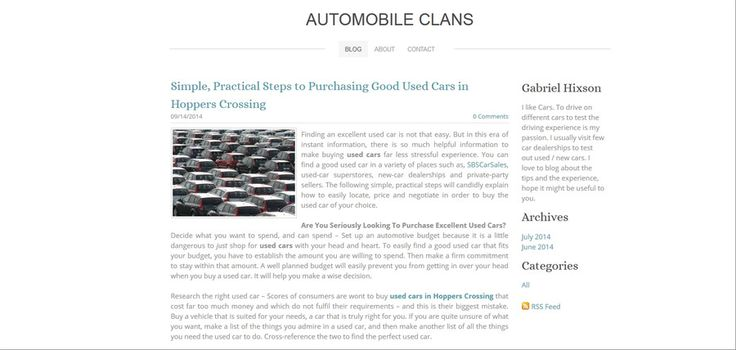 http://elementalclans.weebly.com/blog/simple-practical-steps-to-purchasing-good-used-cars-in-werribee read more Finding an excellent used car is not that easy. But in this era of instant information, there is so much helpful information to make buying used cars far less stressful experience.