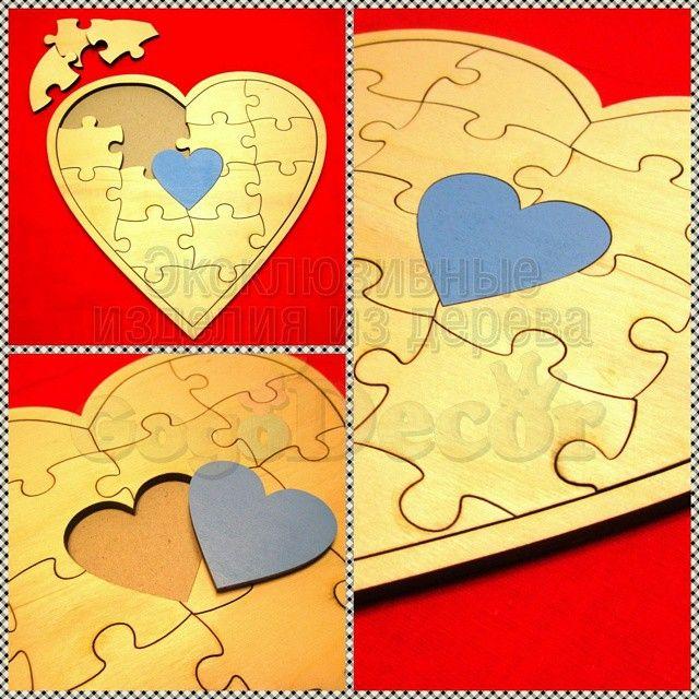 Сердце-пазл пожеланий! Каждый пазлик может быть подписан каким-либо пожеланием и подарен. Пазл выполнен таким образом, чтобы его можно было повесить на стену. Дарите радость любимым.♥ ♥ ♥  Мы обо всем позаботились: ✨Бесследный крепеж на стену и на полку ✨Бесплатно макет ✨Ручная работа ✨Подарок в каждом заказе ✨Доступ к графику работ ♥ С любовью #GogoDecor - Декоративные слова из дерева.