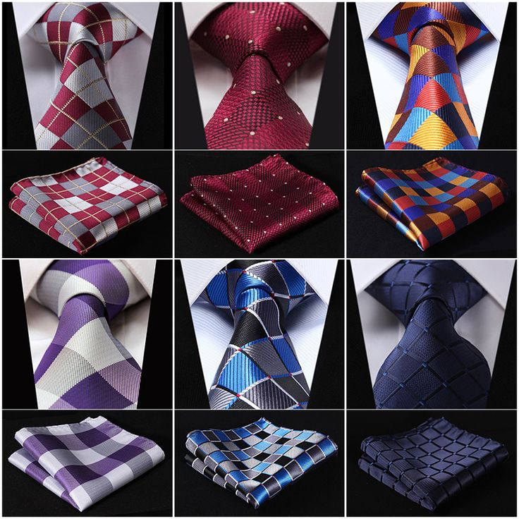 Extra Long Plaid Necktie Handkerchief Set //Price: $18.92 & FREE Shipping Over 180 countries //    #bowties