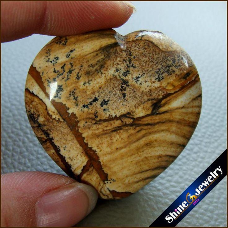 Мужчин, Ювелирные Изделия Кулон Большое Сердце Природный Аватар джаспер Камень Ожерелье Оптовая Нефритовые Подвески для Мальчиков Подарки-252