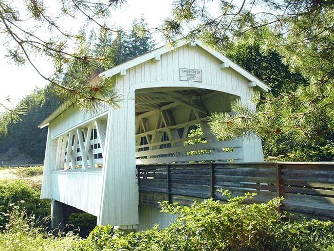 Sandy Creek Covered Bridge - Coos County Oregon