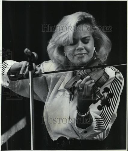1989 Press Photo Gretchen Carlson, Miss America 1989