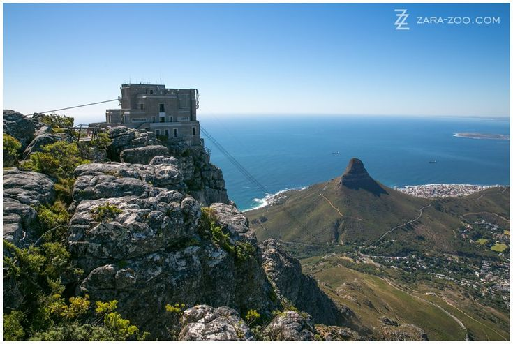 View from Table Mountain, Cape Town. Lionshead at the back. Cape Town attractions. ZaraZoo photography