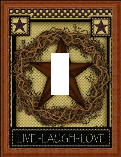 Barn Star Country Love Live Laugh Light Switch By