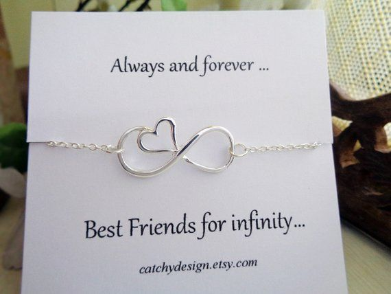 Best friend gift- Infinity heart bracelet,BFF gift,with ...
