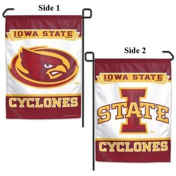 Iowa State Cyclones 2 Sided Both Logos Garden Flag