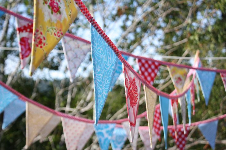 Carnival Bunting By The Yard. Wedding Decor, Photo Prop, Party Decoration, Pennant Flags. You Choose the Length.. $19.00, via Etsy.