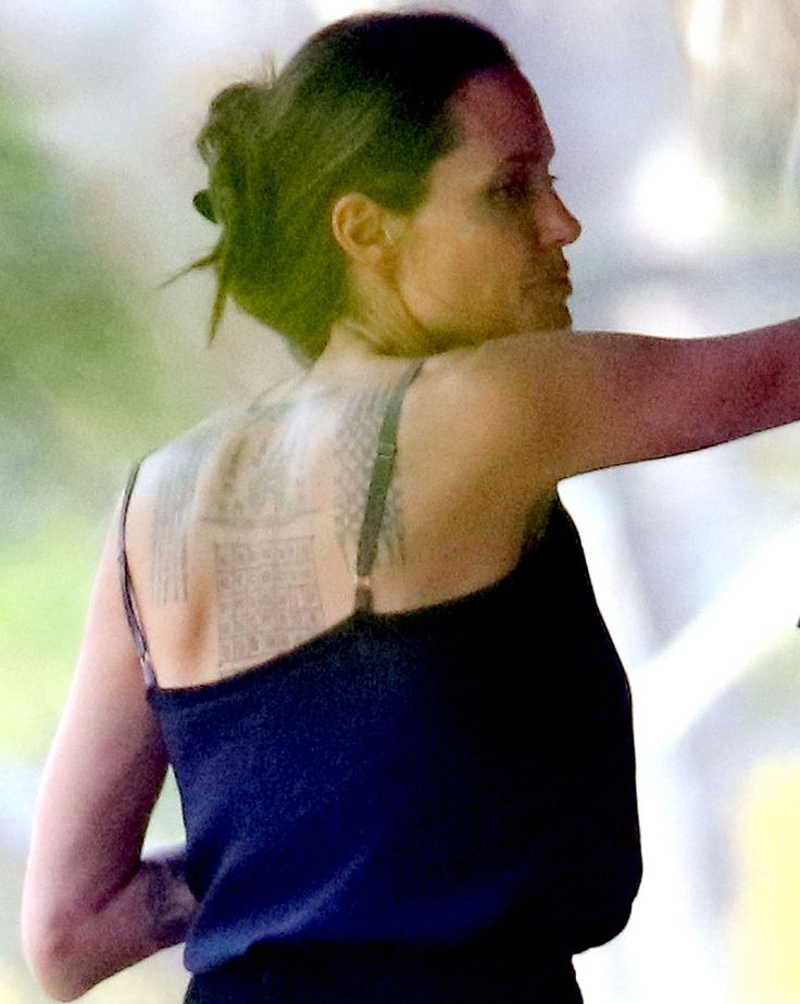 Angelina Jolie Spotted With Three New Back Tattoos: See the Photos!