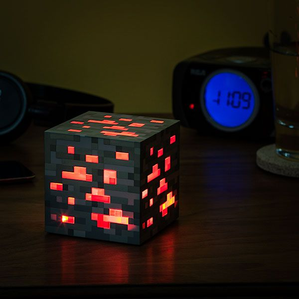 Minecraft Redstone Ore LampGeek, Redstone Ore, Gift Ideas, Night Lights, Minecraft Lightup, Minecraft Lights Up, Minecraft Redstone, Boyfriends Gift, Lights Up Redstone