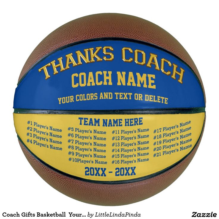 Great Personalized Basketball Coach Gifts. Your Team COLORS, ALL Players Names, Coach, Team NAMES. CLICK: http://giftsforcreativepeople.com/Personalized-Basketball-for-Coaches-CLICK-HERE  Best Basketball Coach Gifts More Gifts for Basketball Coaches Personalized or Not. HERE: http://www.zazzle.com/littlelindapinda/gifts?cg=196910912462895451&rf=238147997806552929 For Custom Designed Personalised Basketball Gifts Call Zazzle Designer Linda for HELP: 239-949-9090