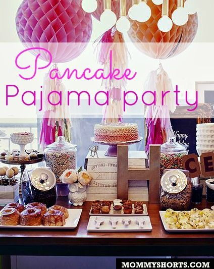 A cute breakfast birthday party complete with pajamas and pancakes to satisfy both the parents and the kiddos!