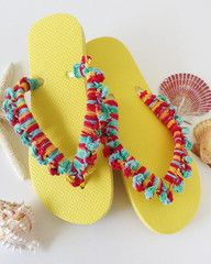 Maggie's Crochet · Yellow Flip Flops - Free Crochet Pattern