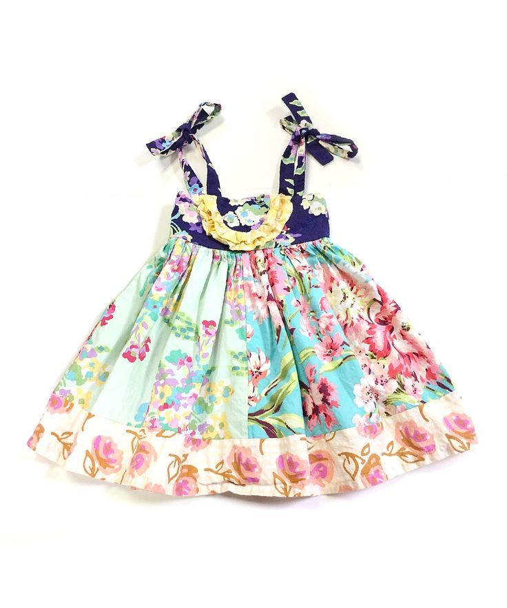 Purple & Aqua Floral Bliss Dress - Infant, Toddler & Girls | something special every day
