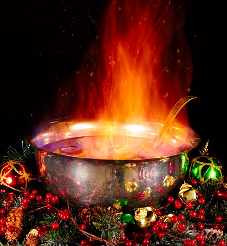 Flaming Holiday Punch - recipe courtesy of the man himself, Charles Dickens #Christmas