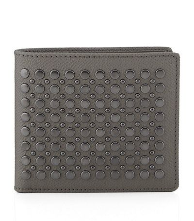 #BurberryLondon Studded Leather Folding Wallet