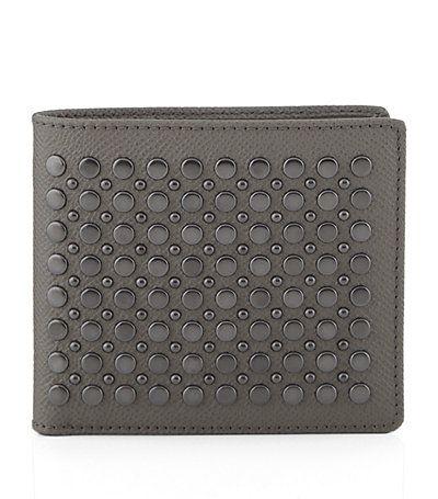 #BurberryLondon Studded Leather Folding Wallet