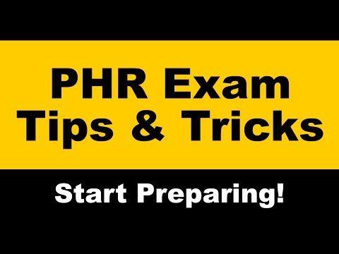 Phr exam dates