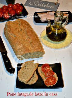 Pane integrale fatto in casa senza macchina   Mela Cannella e Fantasia