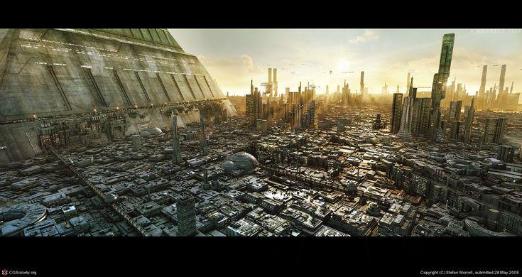 Flat cityscape
