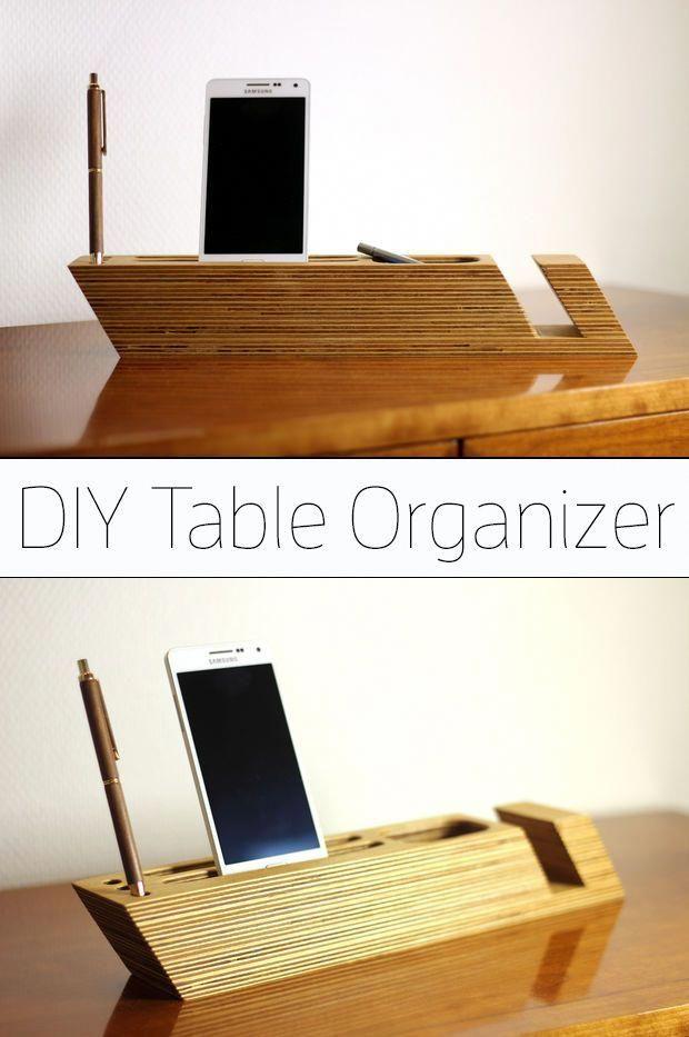 scandinavian design inspired plywood table organizer rh pinterest com