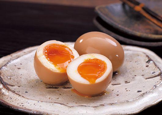 半熟だし卵(煮卵)(茅乃舎だし)