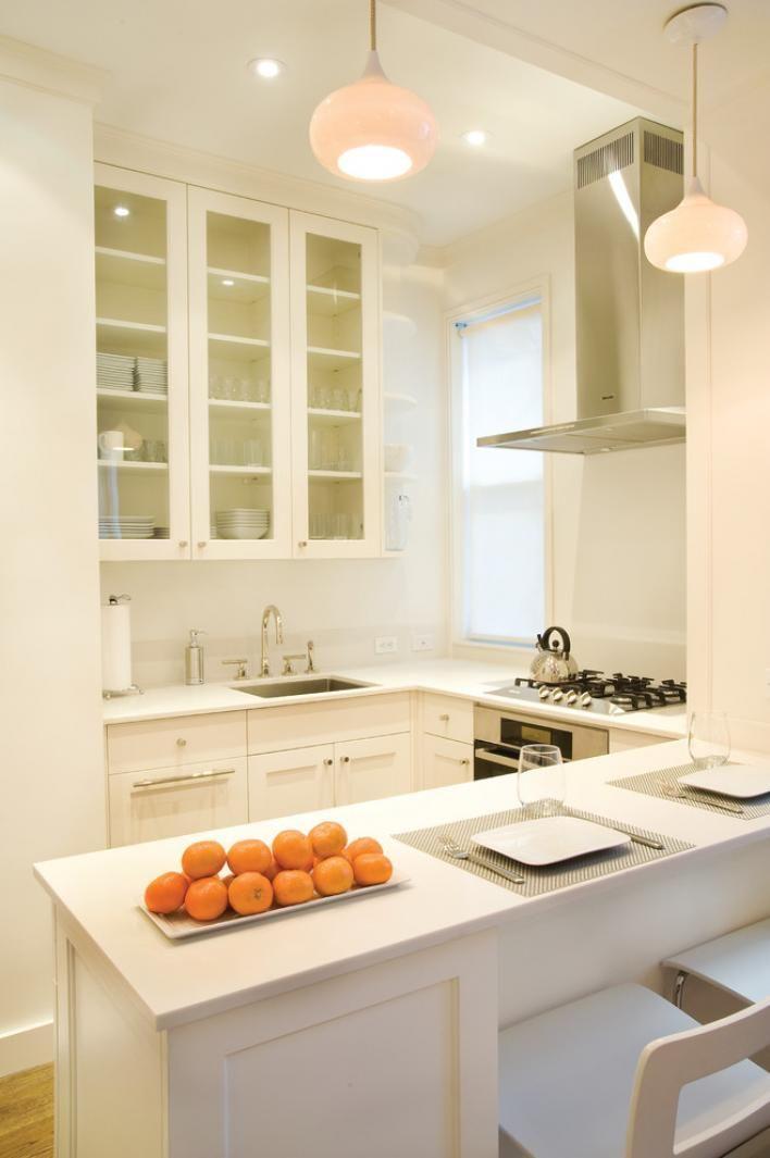Маленькая кухня с барной стойкой - фото примеры дизайна