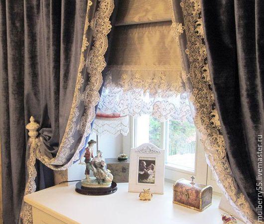 Текстиль, ковры ручной работы. Бархат (Италия). Home Lux. Интернет-магазин Ярмарка Мастеров. Шторы для гостиной, италия, хлопок