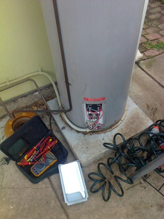 Electric hot water heaters consist of either a tank or a heat exchanger, where an element heats the water via a thermostat to reach the desired temperature. An electrical cable or wire is run from a power point or meter box and will supply power as the source of energy to heat the tank.