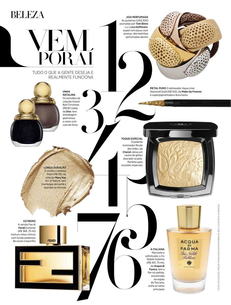 Tom Binns x Lisa Hoffman Beauty Fragrance Cuffs. Harper's Bazaar Brazil - March 2013