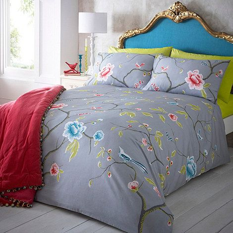 Butterfly Home by Matthew Williamson Designer grey  Chinoise  bedding set   at Debenhams. 45 best BEDDING images on Pinterest   Duvet cover sets  Single