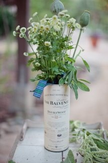 balvenie tube is a nice vase - use with honesty bar in snugs?printed with wedding date and names etc instead